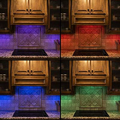 Energizer Color Changing Remote-Control 12in. Light Bars, 2 Pack, Wireless, Controlled by Remote Within 50ft, Easy to Install, 100 Lumens, Perfect for Closet, Cabinet, Pantry, 44578