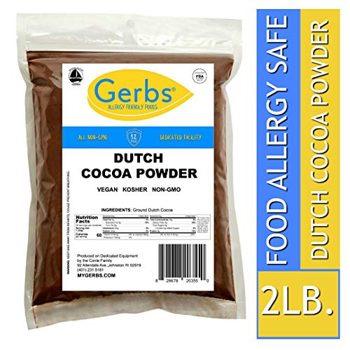 Gerbs Dutch Cocoa Powder, 2 LBS - Top 14 Food Allergen Free & NON GMO - Product of Canada