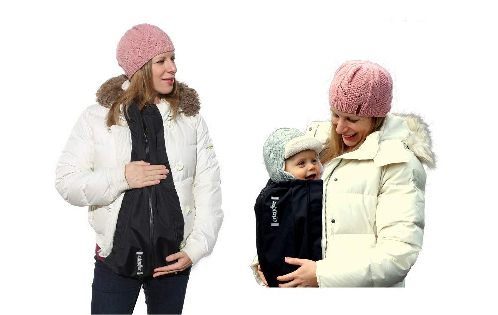 Amazon Com Extendher Maternity Coat Alternative Jacket Extender Lined With Polartec Fleece Nylon Outer Shell Clip On Babywearing Adapter Panel Converts Any Zip Up Coat Doubles As Baby Cover 1 Size Baby