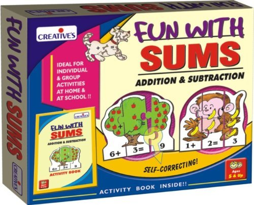 Creative Educational Aids P. Ltd. Fun With Sums - Addition And Subtraction Puzzle (Multi-Color, Set Of 30) (B0093133HE) Amazon Price History, Amazon Price Tracker