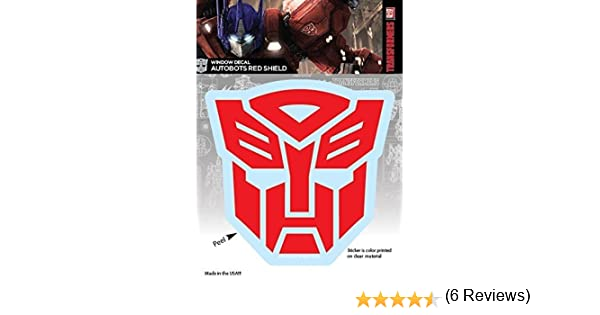 Transformers Autobots Red Shield Logo Car Window Decal Sticker