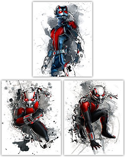Ant Man Movie Poster Collection - Paul Rudd as The Smallest Avenger in our Wall Art Marvel Legends Series - Set of 3 8x10 Photos