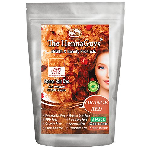 Red Orange Henna Hair Color / Dye 3 Pack - The Henna - For Mix Orange Color