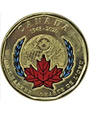 2020 $1 Coloured Loonie 75th Anniversary of The Signing of The United Nations Charter (1 Coin)