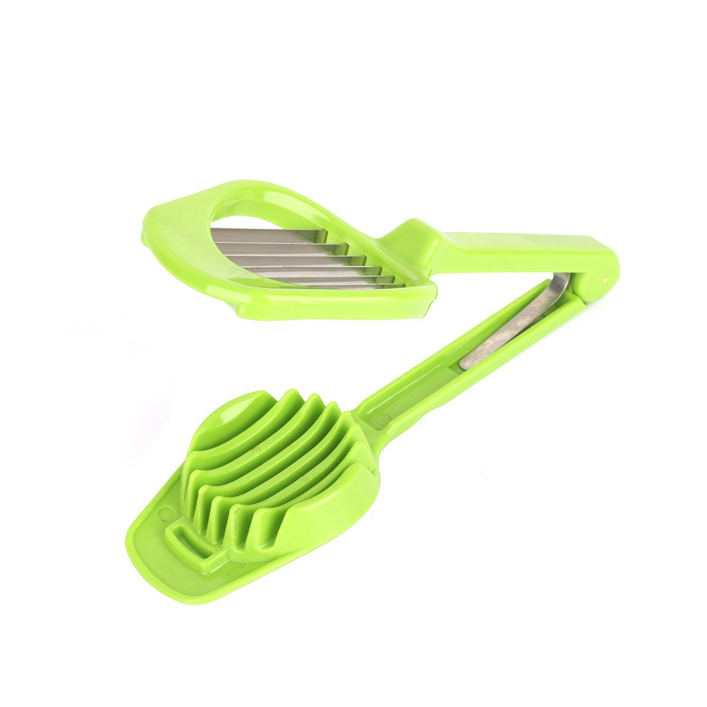 Egg Slicer Mushroom Tomato Fruit Cutter with Long Handle Slicer with ABS alloy Stainless Steel Blades Multifunction Kitchen Accessories Cooking Tool ( Color : Green ) Yosoo
