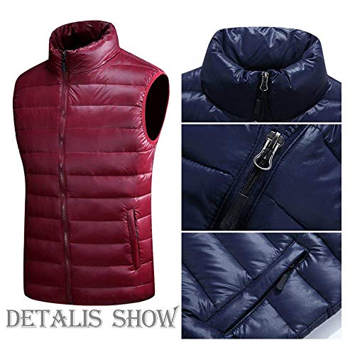Men's Coat Unique Winter Vest Quilted Jacket Sleeveless Vest Warm Jacket Down Down Nenet Tiefrot Vests Mens Coat xHHwcnB
