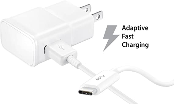 Car Charger + Wall Charger + 2 Type-C Cable Adaptive Fast Charging uses Dual voltages for up to 50/% Faster Charging LG V30 Fast Charger Type-C Cables Combo Kit Set by Ixir