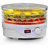 NutriChef PKFD08 Electric Countertop Food Dehydrator, Preserver Jerky Maker, White