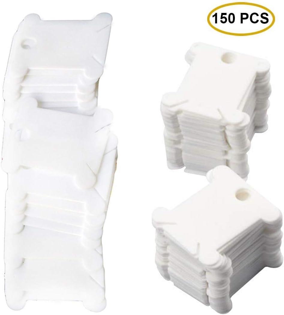 150 piezas de plástico seda del bordado del arte bobinas de hilo para que el titular de almacenamiento de punto de cruz fuentes de costura Bobinas de hilo de plástico: Amazon.es: Hogar