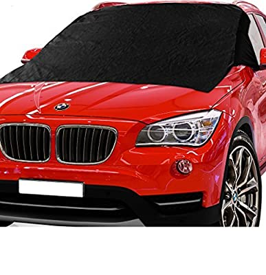 X-Shade Windshield Snow Cover 57 x 74 Inches Best Car Magnetic Windshields Guard from Frost - Comes With Non-slip Pad