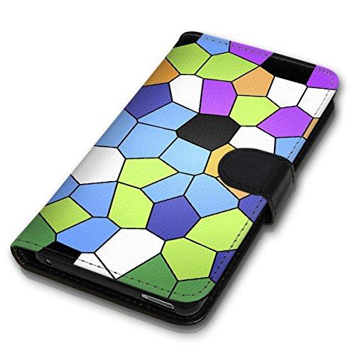 Wallet Book Style Flip Handy Tasche Case Schutz Hülle Schale Motiv Etui für Apple iPhone 4 / 4S - Design Flip MV108