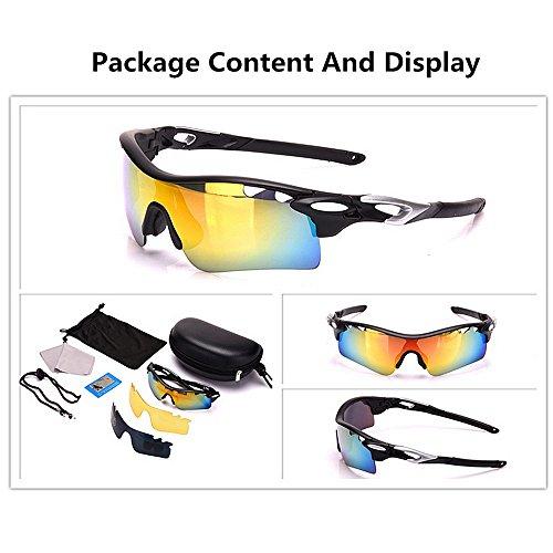 KTYX Radar De Gafas Mujer Sol Nuevo Color Black Deportivas Black Sol para para de Gafas Polarizadas Gafas TrnSTq