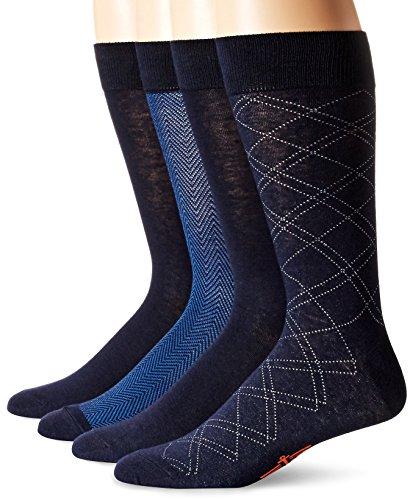 - Dockers Men's 4 Pack Herringbone Dress, Navy, Sock Size:10-13/Shoe Size: 6-12