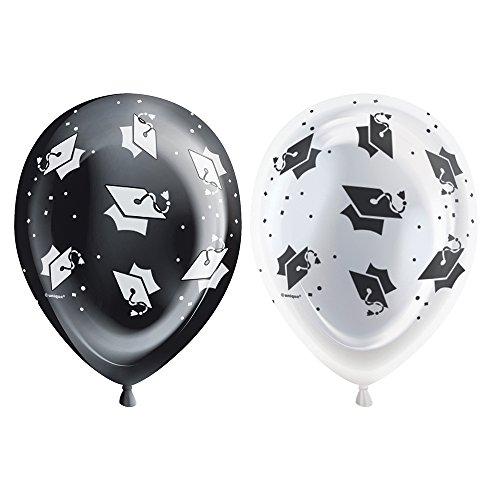 Black White Graduation Light Balloons