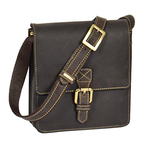 Sling Mens BROWN Body Vintage Flight Cross Leather Wallet Small Travel Billy Bag Mobile Handbag gngTvqwr