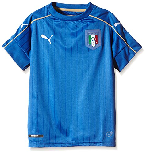 PUMA Kinder Trikot FIGC Italia Home Shirt Replica, team power blue-white, 140, 748833 01