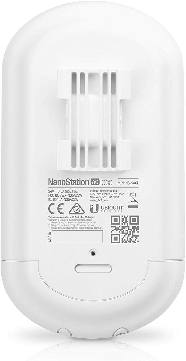 Ubiquiti Networks AC Loco - Nanostation, Punto de Acceso (1000 mbit/s, 10,100,1000 mbit/s, 450+ mbps, 16-qam,64-qam,256-qam,bpsk,qpsk, 64 MB, 10000 ...