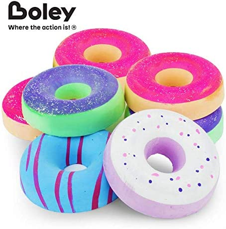 Boley Donut Chalk Bright Donut Color Chalk Sets for Kids 6 Piece Set of Jumbo Non-Toxic Multi-Colored Sidewalk Chalk for Indoor and Outdoor Use