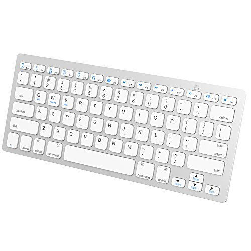 JETech 2156- Universal Bluetooth Wireless Keyboard, Portable, White