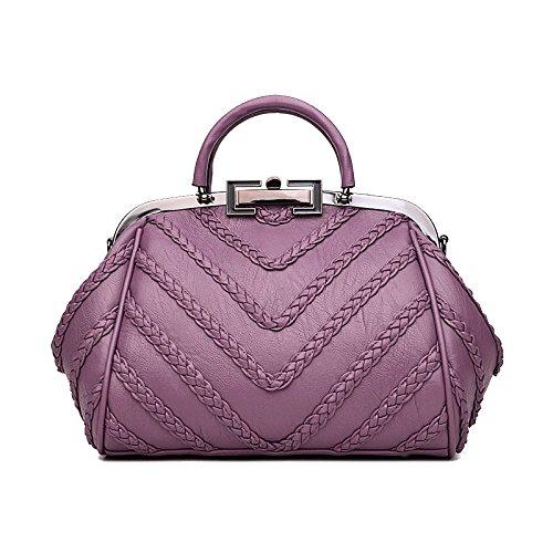 Ajlbt Smart Casual Woven Bag Shoulder Messenger Fashion Women's Purple