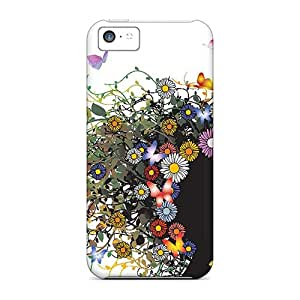 Perfect Fit ZaU4421rWgu Wild Butterfly Flowers Case For Iphone - 5c