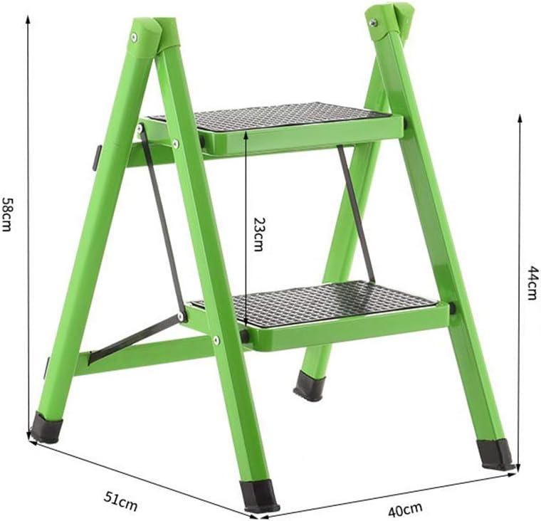 SSCYHT Escalera Taburete Plegable de Estructura de Acero de 2 peldaños con peldaños Anchos Antideslizantes, Escalera para niños Escalera de Dos peldaños, 150 kg de Capacidad,Rojo: Amazon.es: Deportes y aire libre