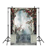 Allenjoy 5x7ft Polyester Halloween Photography Backdrop Palace Garden Cloth Computer-Printed Horror Night Pictoria Background