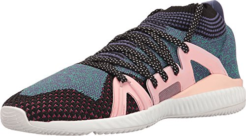 adidas by Stella McCartney Women's CrazyTrain Shoes Black/White/Plum/Ballet Athletic Shoe by adidas