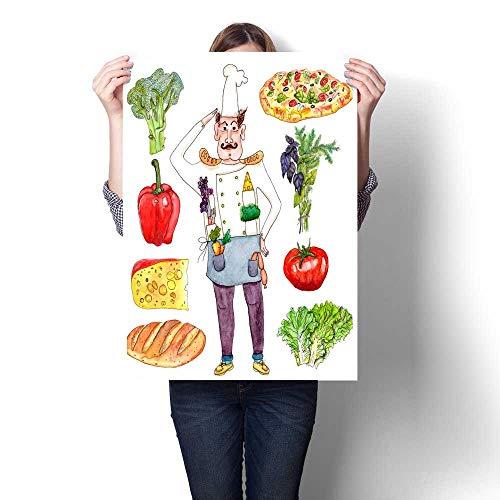 Anshesix Wall Art Canvas Prints Restaurant Staff and