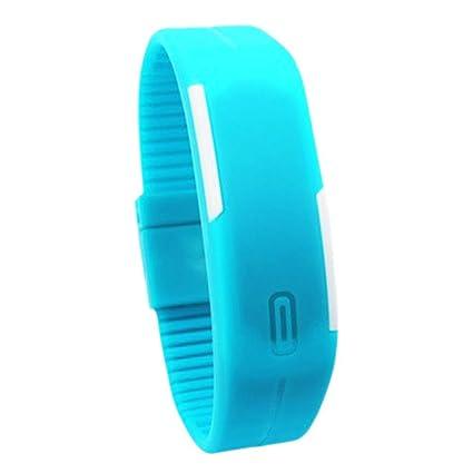 Reloj de pulsera digital LED Everpert, de goma, deportivo, para hombres y mujeres
