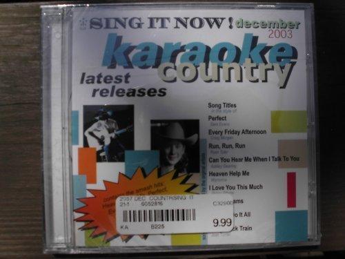Multiplex Karaoke - Sing It Now Country Hits December 2003 9x9 Multiplex Karaoke CDG by Unknown (0100-01-01?