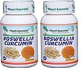 Planet Ayurveda Boswellia Curcumin, 500mg Veg Capsules - 2 Bottles