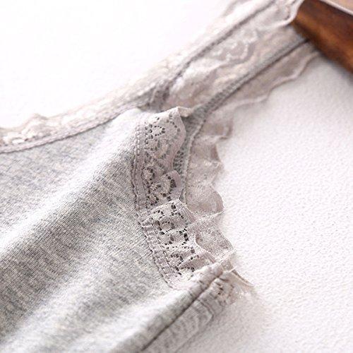 De En Femmes Dentelle Gilet Alizeal Blanc Des U Style wtx57Rp