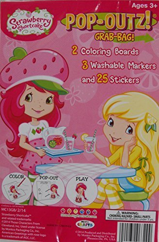 (Pop-outs Take N Play Grab Bag! Mini Set~ Strawberry Shortcake ~ Coloring Activity Boards ~ Markers ~ Stickers)