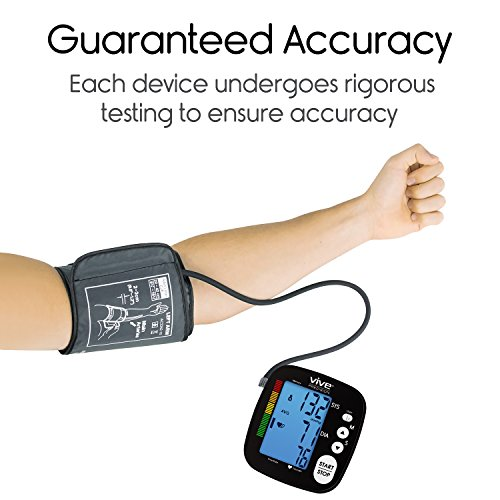 Vive Machine Monitor - Automatic BPM Sphygmomanometer Heartbeat Hypertension Pulse Readings Arm