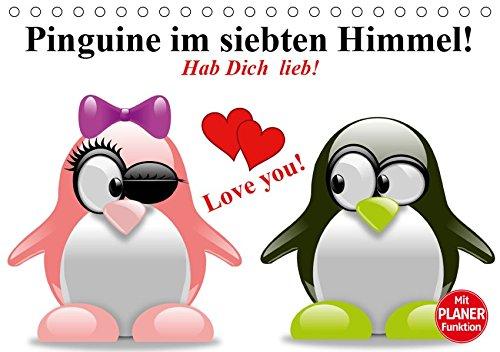 Pinguine Im Siebten Himmel   Tischkalender 2019 DIN A5 Quer   Verliebte Pinguine Für VERLIEBTE   Geburtstagskalender 14 Seiten    CALVENDO Spass