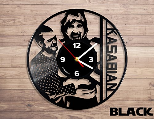 Kasabian vinyl record wall clock, music clock, vinyl record