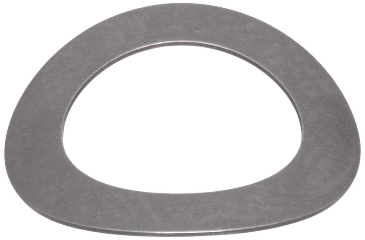 Curved Washer, Stainless Steel, Inch, 0.598'' ID, 0.857'' OD, 0.012'' Thick, 0.074'' Compressed Height, 5.5lbs Load Capacity (Pack of 10) by Small Parts