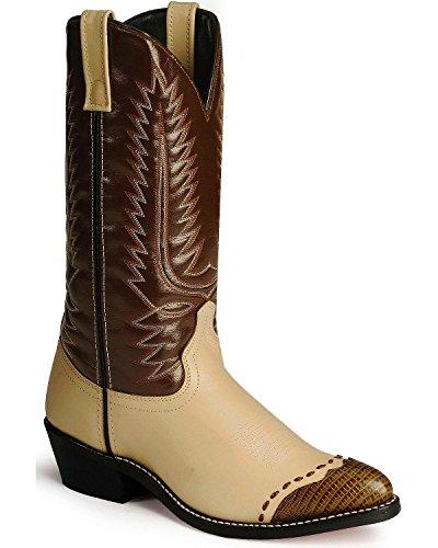 Laredo Men's Classic Style Lizard Wingtip Western Boots