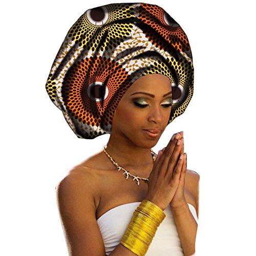 Chien TJ04 Multi-Color Urban Ladies Hair Accessory Headband,Bazin Wax Print Wrap Tie Scarf, African Head Scarf Gele Ipele Extra Long 70x20
