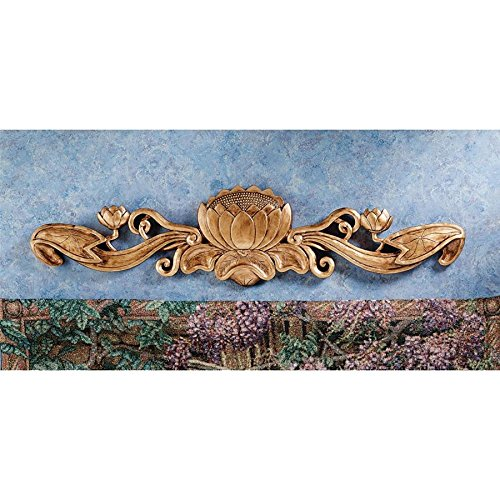 Design Toscano De Velde Water Lily Architectural Wall Pediment