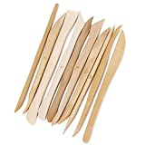 COMIART 10pcs Wooden Polymer Clay Pottery Play Dough Modeling Tools