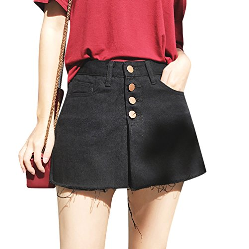 Shorts Skinny Taille Hot Xinwcanga Jeans Casual Vintage Noir Court Courtes Jupe Trou Femme Haute Jeans 7Rq5z