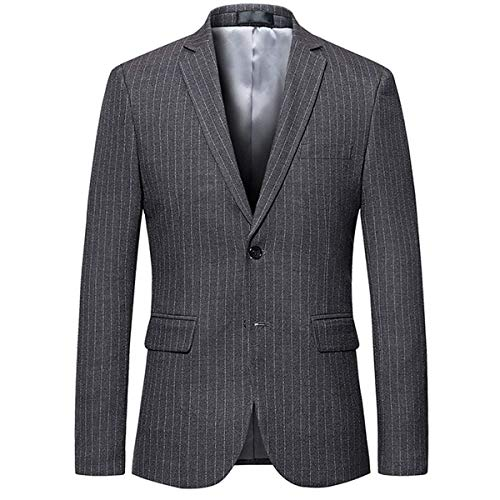 Hombres Blazer Deportiva Grau Fashion Lannister A Con Ropa Moderna Comodidad Comercial Para Chaqueta Ligera De Rayas Algodón Ocio 8xpRq1gxw