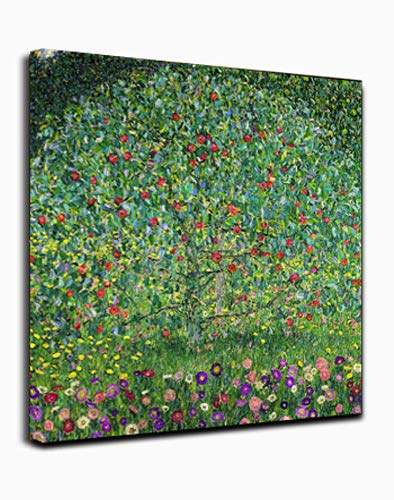 Canvas Wall Art - Apple Tree by Gustav Klimt - Classic Art Wall Decor Giclee Print Reproductions Painting Modern Home Decor Ready to Hang