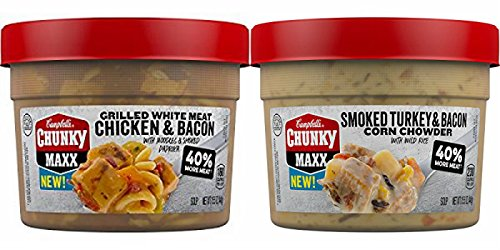 Campbell's Chunky Maxx Soup VARIETY (PACK OF 4 CONTAINERS)