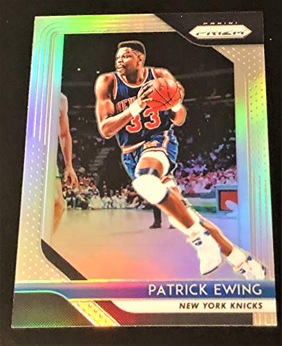 "2018-19 Panini Prizm NBA Basketball PATRICK EWING""SILVER"" Refractor Basketball Card - #105"