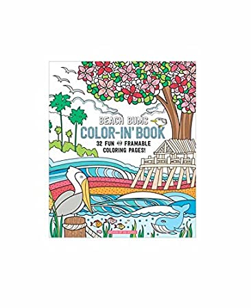 Amazon.com: OOLY is now newly OOLY, Coloring Book, Beach Bums, 32 ...