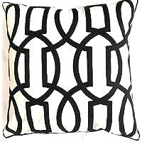 Bamboo Decor Cushion cover_ (45x45) CM_(18x18) inch_Geometric pattern Linen Sofa Cushion Throw Pillow Case_with Zipper…