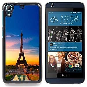 "Qstar Arte & diseño plástico duro Fundas Cover Cubre Hard Case Cover para HTC Desire 626 (Torre Eiffel de Francia"")"